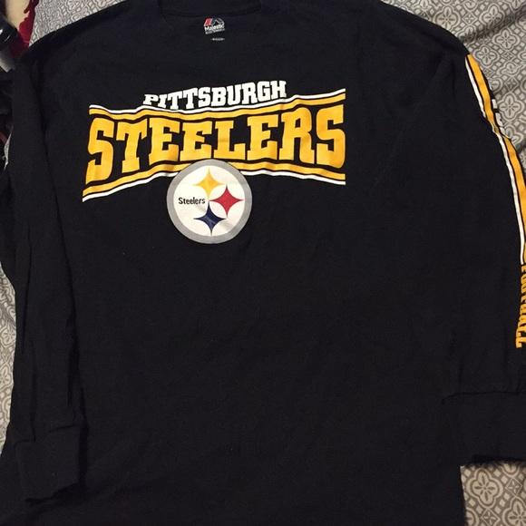 buy online 946cb e375d Pittsburgh Steelers Long Sleeve T Shirt SZ S/CH